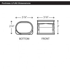 "Fortress LFJ92B 3-1/2"" Brown Flexible Adaptor"