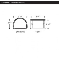 "Fortress LJ92B 3-1/2"" Brown Coupler"