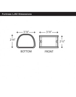 "Fortress LJ92W 3-1/2"" White Coupler"