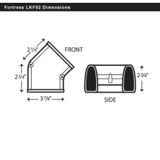 "Fortress LKF92B 3-1/2"" 45 Degree Brown Flat Elbow"