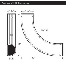 "Fortress LKS92B 3-1/2"" 90 Degree Brown Sweep Elbow"