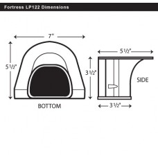 "Fortress LP122B 4-1/2"" Brown Soffit Inlet"
