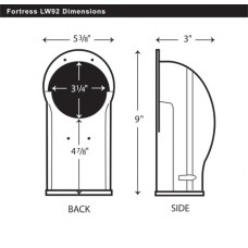 "Fortress LW92B 3-1/2"" Brown Wall Inlet"