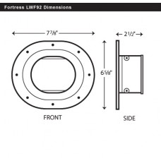 "Fortress LWF122B 4-1/2"" Brown Wall Flange"