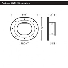 "Fortress LWF92B 3-1/2"" Brown Wall Flange"