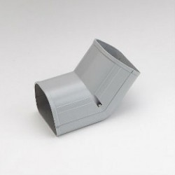 "Fortress LCFI92G 3-1/2"" 45 Degree Gray Inside Vertical Elbow"