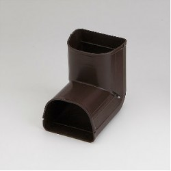 "Fortress LCI92B 3-1/2"" 90 Degree Brown Inside Vertical Elbow"