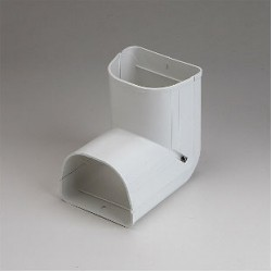 "Fortress LCI92W 3-1/2"" 90 Degree White Inside Vertical Elbow"