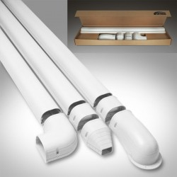 "Fortress LDK92W 3-1/2"" x 12' White Line Set Wall Duct Kit"