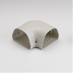 "Fortress LK122I 4-1/2"" 90 Degree Ivory Flat Elbow"