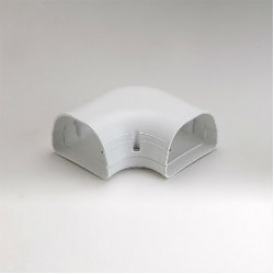 "Fortress LK92W 3-1/2"" 90 Degree White Flat Elbow"