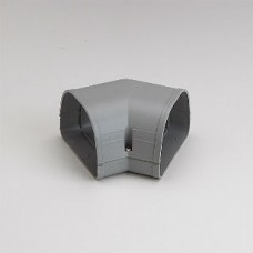 "Fortress LKF92G 3-1/2"" 45 Degree Gray Flat Elbow"