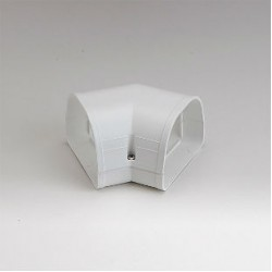 "Fortress LKF92W 3-1/2"" 45 Degree White Flat Elbow"