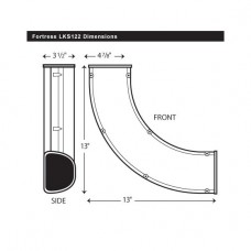 "Fortress  LKS122B 4-1/2"" 90 Degree Brown Long Sweep Elbow"