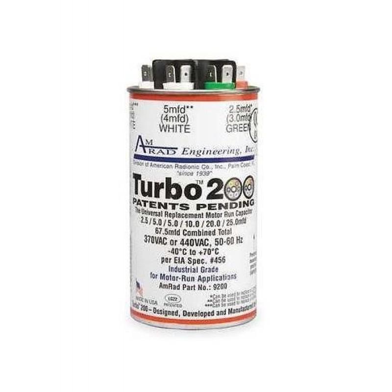 Turbo Universal Capacitor: Mars Turbo 200 Universal Run & Start Capacitor Repla