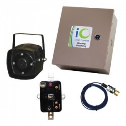 iO HVAC Controls iO-WW1 Warning Watchdog™ Condensing Unit Alarm System Hardwired Warning Watchdog Logic Panel with Siren Cut-Off Timer and Siren Silence Switch